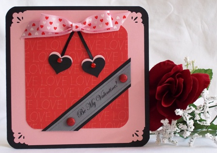 Valentine Craft Idea  pink black red