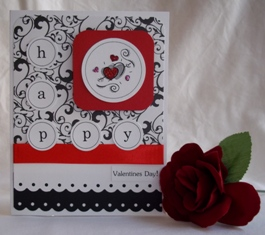 home made greeting cards valentines circle punch