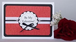home made greeting cards valentines red black
