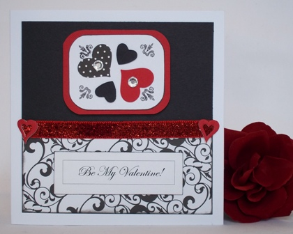 homemade card ideas black red white