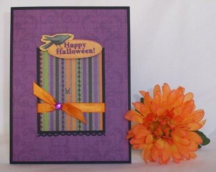 make a halloween purple crow