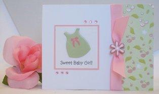 handmade baby greetings