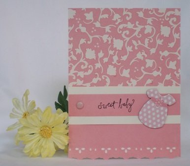 baby card ideas pink for a girl