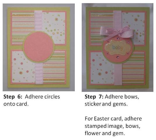 easter card ideas - step by step instructions