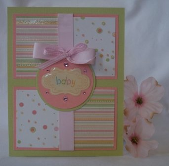 baby card ideas stripes polka dot