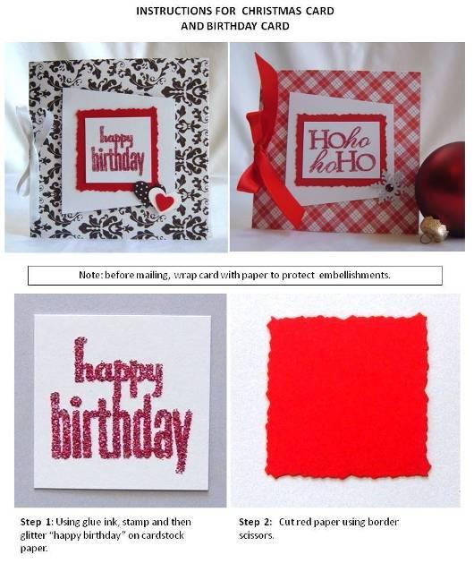 birthday card handmade instructions step 1