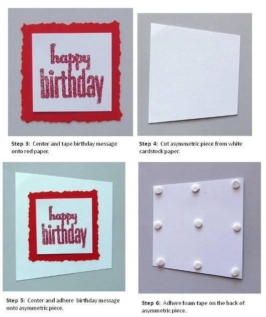 birthday card handmade instructions step 2
