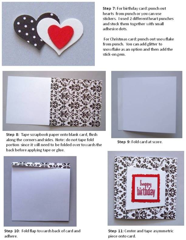 birthday card handmade instructions step 3