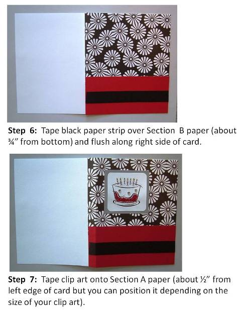 Homemade Birthday Card Ideas instructions step 4