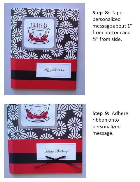 Homemade Birthday Card Ideas instructions step 5
