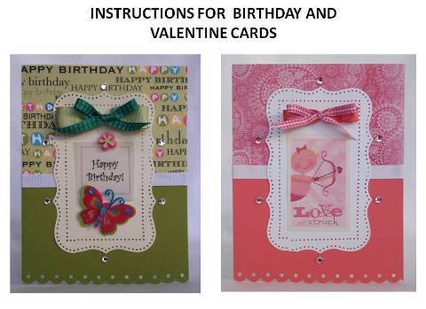 handmade birthday card instructions