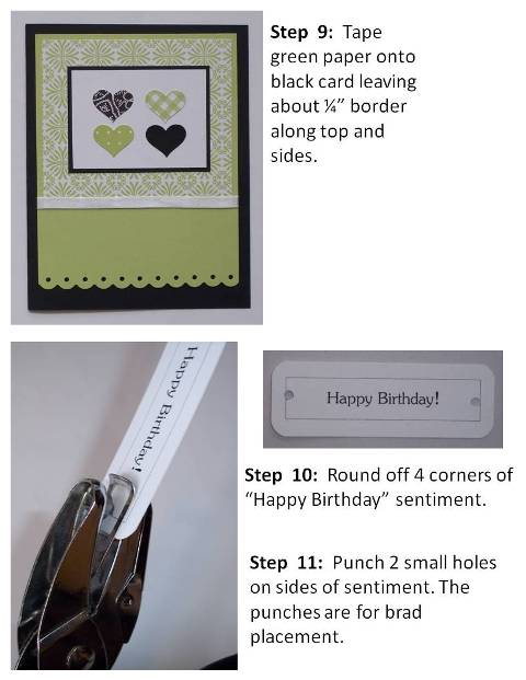 handmade valentine cards purple hearts instructions slide6