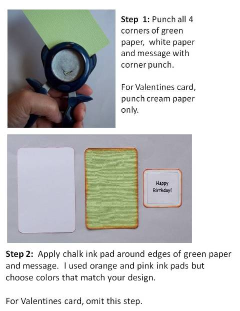 homemade birthday cards directions