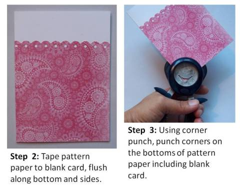 homemade valentine cards instructions step 2