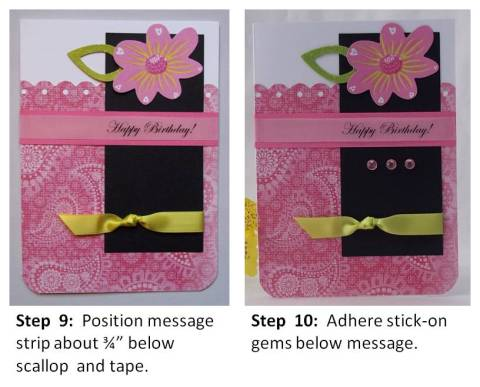 make birthday card instructions step 5