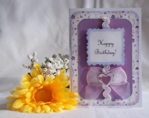 hand made card pretty floral