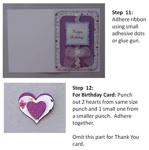 create a brithday card instructions step 6