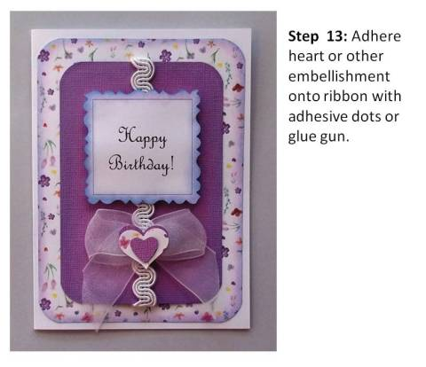 create a brithday card instructions step 7