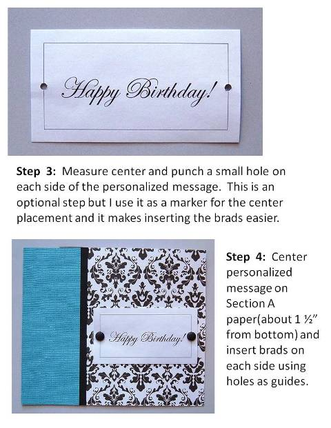 baby shower invitation instructions step 3