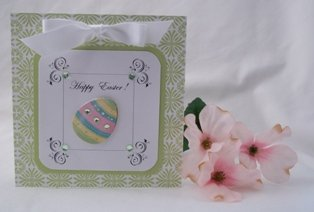 easter card ideas egg sticker