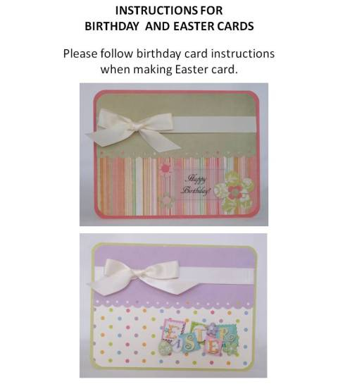 handmade easter cards instructions