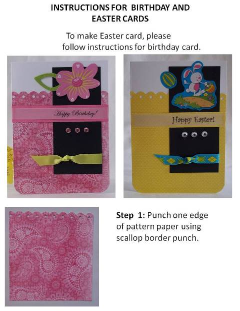 home made easter cards instructions