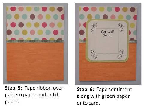 get well soon handmade card step by step instructions