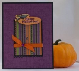 unqiue halloween cards purple