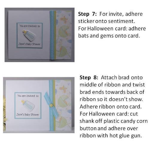 making halloween cards instructions