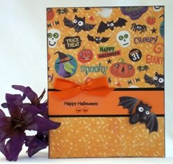 making halloween cards crow