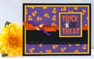 homemade halloween card