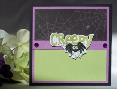 halloween craft card