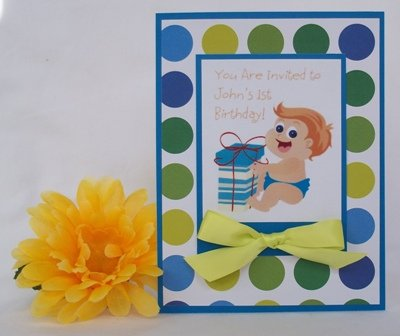 Homemade 1st birthday invitations boatremyeaton homemade 1st birthday invitations filmwisefo