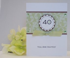 40th birthday invitation idea