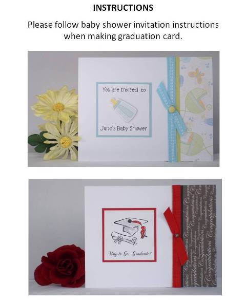 graduation greeting card step by step instructions
