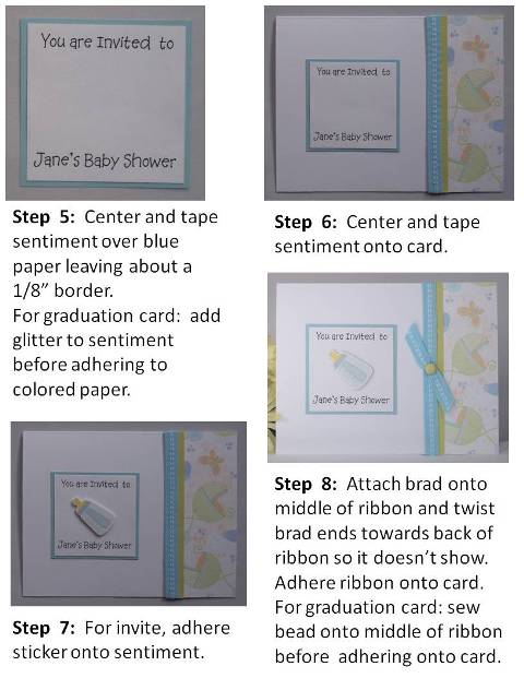 graduation greeting card directions