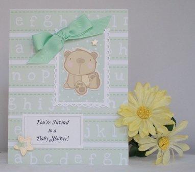 handmade baby shower invitation idea