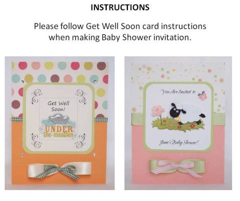 baby shower card idea instructions