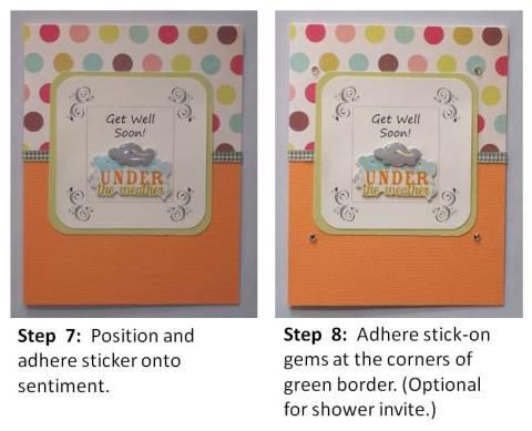 baby shower card idea making