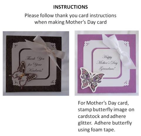 mothers day card craft - directions
