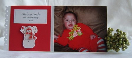 handmade photo christmas card