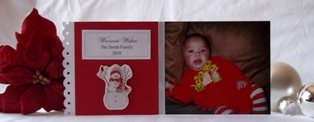 handmade greeting card photo card idea