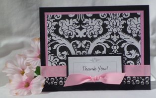handmade card stetch baby shower invitation