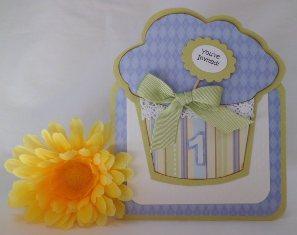 handmade card sketch cupcake