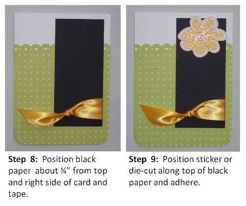 thank you card ideas instructions slide 4