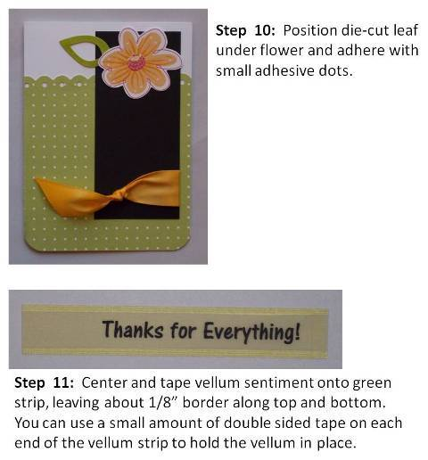thank you card ideas instructions slide 5