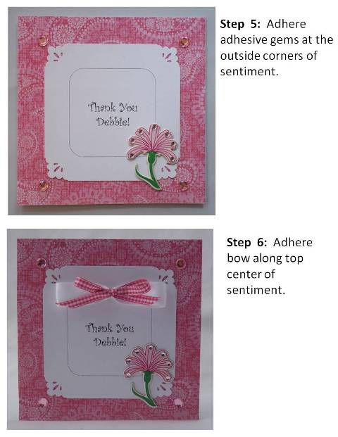 happy mothers day card - instructions