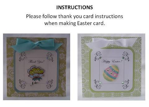 making easter cards instructions