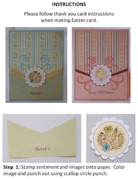 make thank you cards instructions