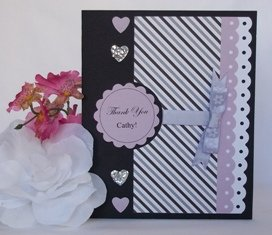make greeting cards - thank you purple and black
